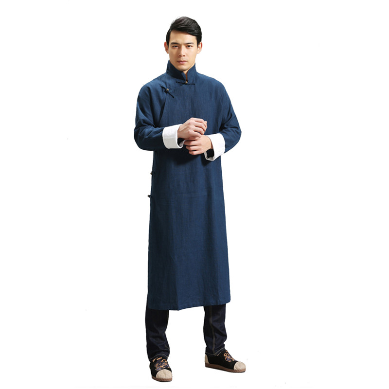 Здесь продается  G-LIKE Spring New Style Men Chinese Style Loose Leisure Tops Pure Linen Oblique Skirt Tang Suit Martial Arts Jacket  Спорт и развлечения