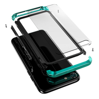 For iphone 7 Case Clear Tempered Glass Plastic Hybrid Luxury Armor Shockproof Metal Phone Cover for iphone 7Plus 8Plus Full Case|cover for iphone|phone cover|for iphone -