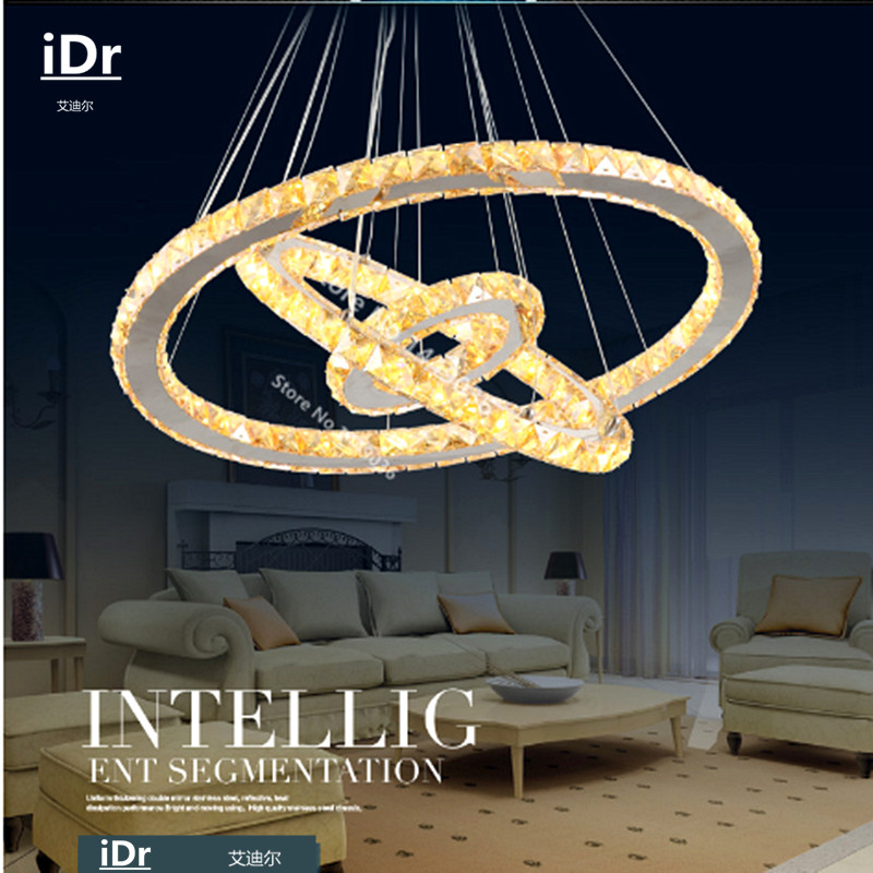 NEW Hot sale Diamond 3 Ring oval LED K9 Crystal LED Pendant Lights - Indoor Lighting