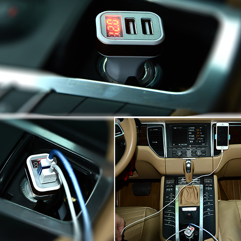 Car Chargers Mobile Phone Accessories Kind-Hearted Luckguard Led Display Dual Usb Car Charger 2.1a Mobile Phone Car-charger For Iphone 6 7 Samsung Xiaomi Smart Charging Adapter