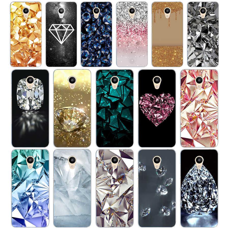 57DD Crystal Diamond Ontwerp Zachte Siliconen Cover Case Voor Meizu M2 M3S M3 M3S M5S Mini M3 Note M5 M6 m6 Note U10 U20