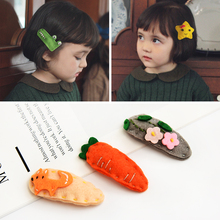 2019 Cute Animal Cartoon Childrens Headdress Girls Hairpin Handmade Felt Cloth Clip baby BB Springboard Card