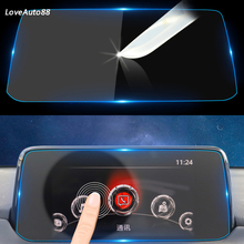 Car GPS Navigation Screen Tempered Steel Protective Film For Mazda CX-5 CX5 CX 5 2017 Control of LCD Screen Car Sticker qcbxyyxh car styling gps navigation screen glass protective film for lexus nx 200 nx200t nx300 control lcd screen car sticker