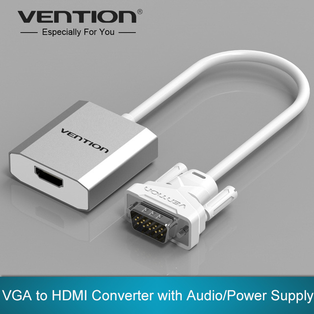 Vention VGA to HDMI Converter Cable Adapter with Audio 1080P VGA HDMI Adapter for PC Laptop to HDTV Projector