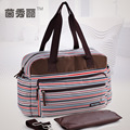 Stripe fashionable multi-function large capacity his mummy bag/baby diapers/bottle heat preservation bags/nappy bag/65z