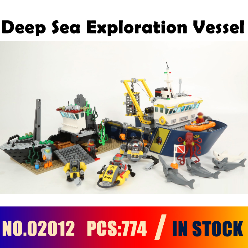 Model building toys hobbies Deep Sea Exploration Vessel 02012 Compatible With lego Blocks city 60095 Educational DIY Bricks цена
