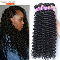 Pelo virginal peruano 4 ofertas de paquete del pelo humano de la armadura Rosa Queen Hair Products onda profunda virginal sin procesar del pelo rizado peruano
