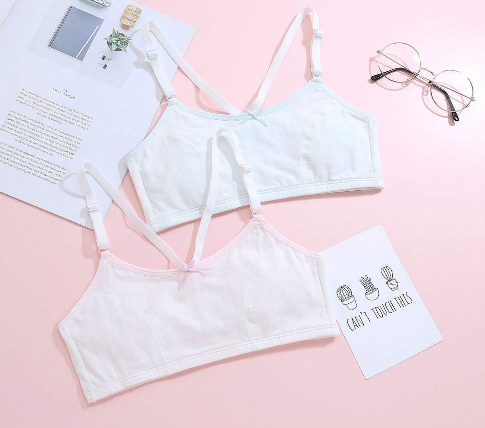 Mother & Kids Teenage Training Bra Youth Sport Bra Puberty Girl Underwear Young Girl Cotton Underwear Soft Cotton Bra For 10-16 Years Old Zn44 High Quality Girls' Clothing