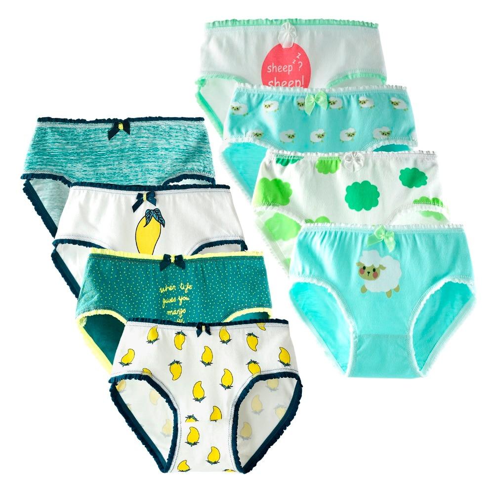 8 Piece/lot Cartoon Kids Underwear Soft Cotton Girls Briefs Children Panties for Girls Baby Panties Children Clothing