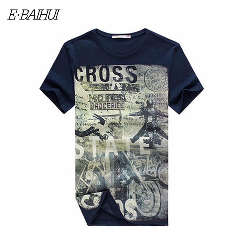 E-BAIHUI Summer Men Cotton Clothing Dsq T-shirtS Camisetas t shirt Fitness tops TeeS Skateboard Moleton mens t-shirts Y032 12