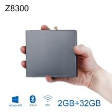 Z8300 Mini PC Windows 10 2GB RAM 32GB ROM Fanless Quiet Pocket PC HDMI 5xUSB2 0