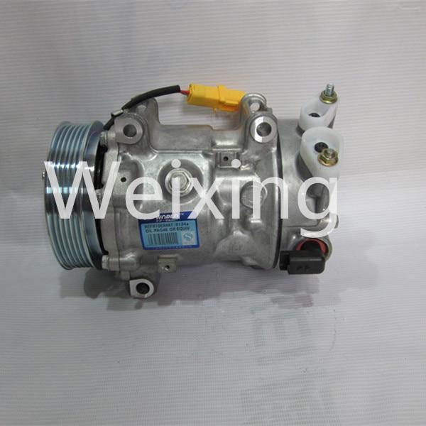 Auto Air conditioning Compressor SANDEN SD6C12 for CITROEN C3 C4 1315 6453WL 6453ZZ 648708 6453WK 9659875780