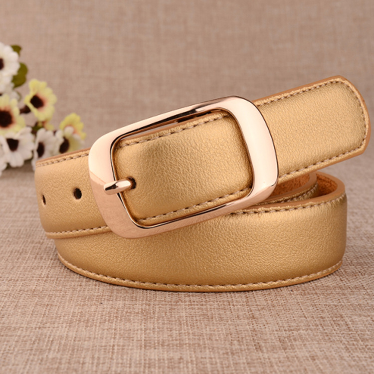 2018 New Designer Ladies Black Gold White Blue Wide Leather Belt Waistband Female Golden Square Buckle Belts for Women Jeans