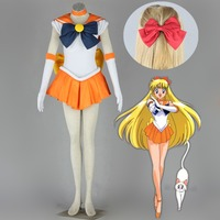 Athemis Anime Sailor Moon Minako Aino Sailor Venus Cosplay Costume Custom Made Dress High Quality