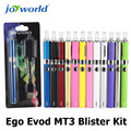5 unids electrónico kit evod mt3 Ego Evod Kit Blister MT3 evod batería ego mini ce4 clearomizer cigarro electrónico gratuito gratis (MM)