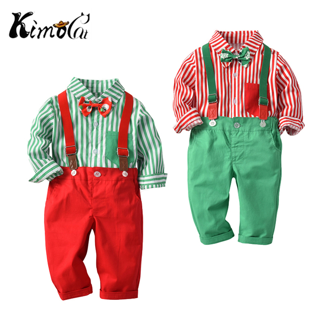 b039edea89e0e US $13.49 10% OFF|Kimocat Kids Baby Boys Christmas Clothing Set Long Sleeve  Shirt+Suspender Pants 2Pcs/Set Outfits Suit for Toddler Boys 12M 4T-in ...