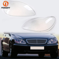 POSSBAY Car Headlight Lenses Plastic Shell Cover for Mercedes Benz S Klasse W220 1998 2005 Headlamp Clear Lens Housing