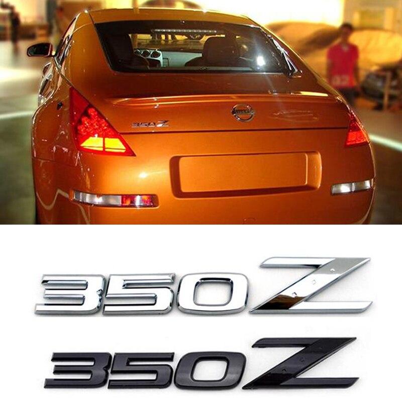 Для Ниссан 350Z ABS хром с черный задний эмблема наклейка логотип значок автомобиля стайлинг