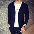 Men's jackets Personalized Lapel Slim Hooded Jacket 2017 Autumn and winter casual coat men High-quality cotton men's clothing