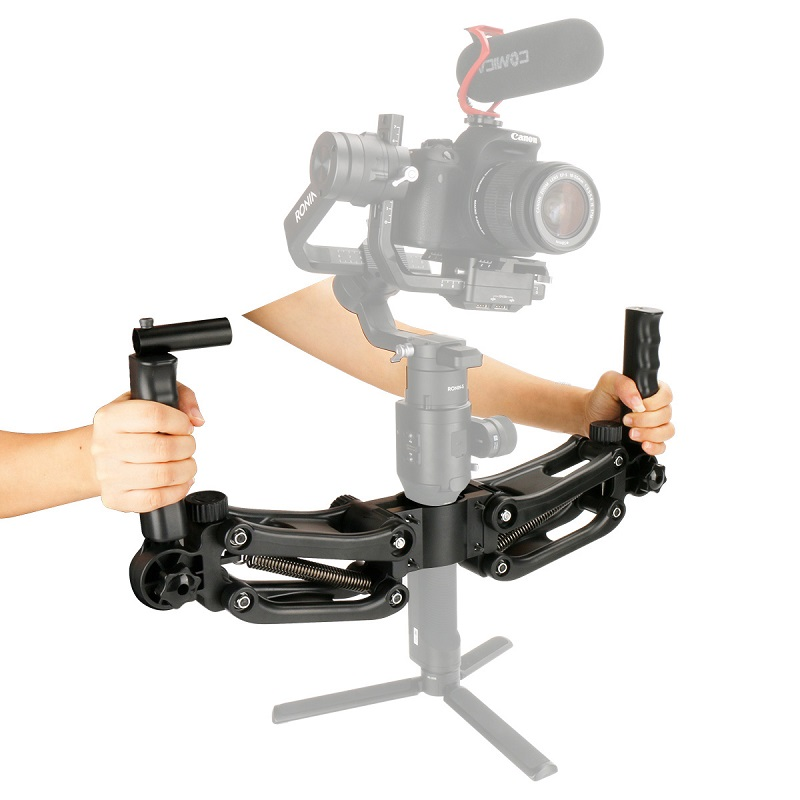 Stabilizer Handgrips 3 to 5 axis Spring Dual Handle Grips Holder Arm for Zhiyun Crane Plus/Crane 2/Feiyu a2000/DJI RONIN S