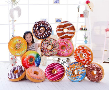 40cm funny chocolate donut shaped sofa seat cushion christmas donuts pillow with cotton filling