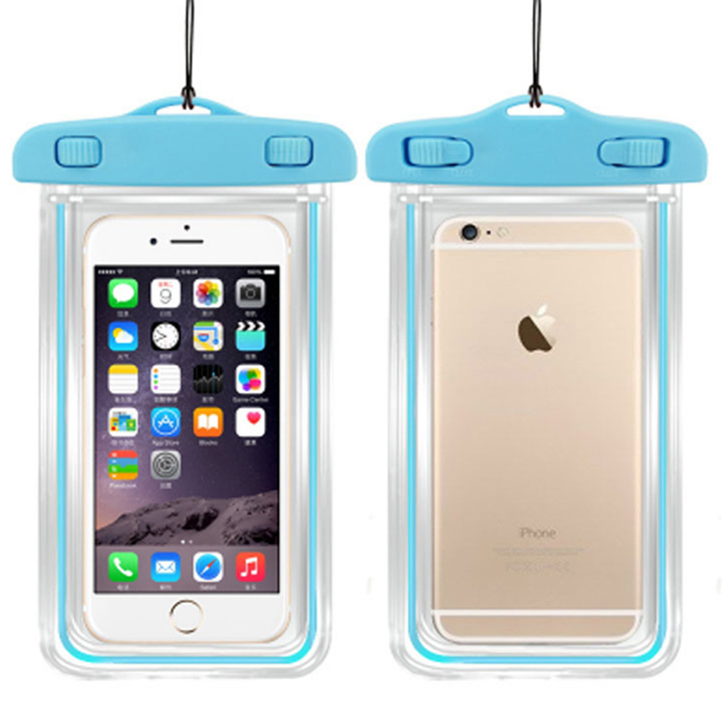 100 Sealed Waterproof Bag Case Pouch Luminous Phone Cases For Iphone 6 Plus 5s 5c 5 4s Samsung Galaxy S6 S5 S4 Note 2 In From