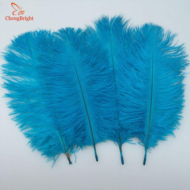 Chengbright 저렴한 500 개/몫 자연 스카이 블루 타조 깃털 하드로드 15 70 cm 호텔 파티 웨딩 장식 쥬얼리 깃털-에서깃털부터 홈 & 가든 의  그룹 1