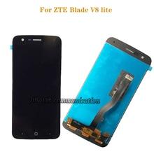 """5.0 """"yeni LCD ekran için ZTE Blade V8 Lite LCD ekran dokunmatik ekran paneli sayısallaştırıcı meclisi için mobil ekran zte v8lite lcd"""