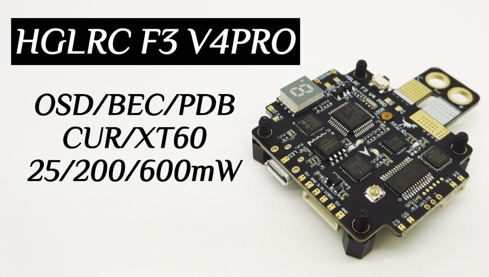 HGLRC F3 V4PRO Flight Control Board Switchable Transmitter OSD BEC PDB for FPV Quadrocopter QAV-R QAV-X QAV180 210 QAV250 GEP-TX upgrade ts5828l ts1727 5 8g 25mw 600mw 48ch switchable fpv av wireless transmitter module for fpv racing qav x r qav210 zmr250