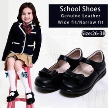 Kalupao Girls Shoes Bows 100% Genuine Leather School Uniform