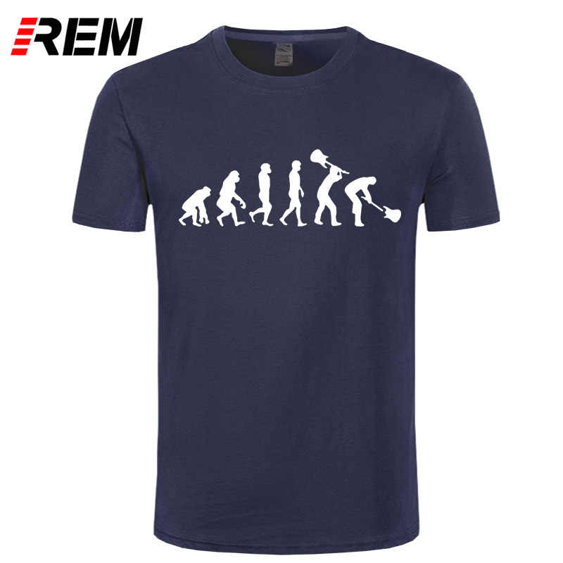 REM  Short Sleeve Men Evolution of a Guitarist T Shirt Music Rock Guitar Men T Shirts Rock Roll T-shirts Top Free Ship