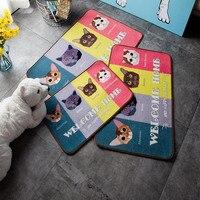 Fashion meow stars cartoon cute entrance door entrance porch carpet mats mattress pad non-slip short hair washing