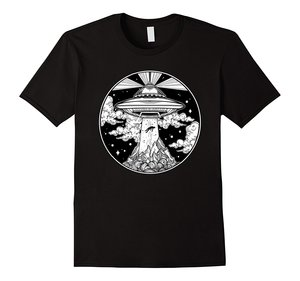 Hot sale Fashion Alien Space Tattoo TShirt - UFO 51 Area Roswell Believe t-shirt men short sleeve Top Tee shirt(China)