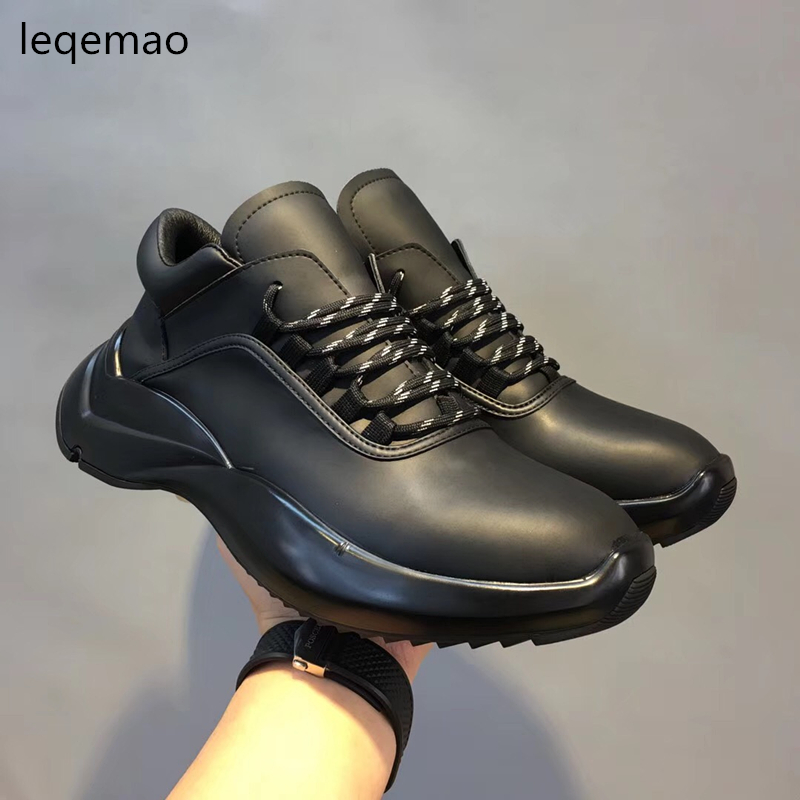 Hot Sale New Fashion Men Boat Shoes Basic Lace Up Genuine Leather Luxury Brand Man Spring Autumn Casual Shoes black Sneakers men suede genuine leather boots men vintage ankle boot shoes lace up casual spring autumn mens shoes 2017 new fashion