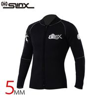Slinx 5mm Neoprene Scuba Dive Clothing Snorkeling Jacket Wetsuit Top Coat High Elastic Spearfishing Kite Surf Windsurf Swimwear