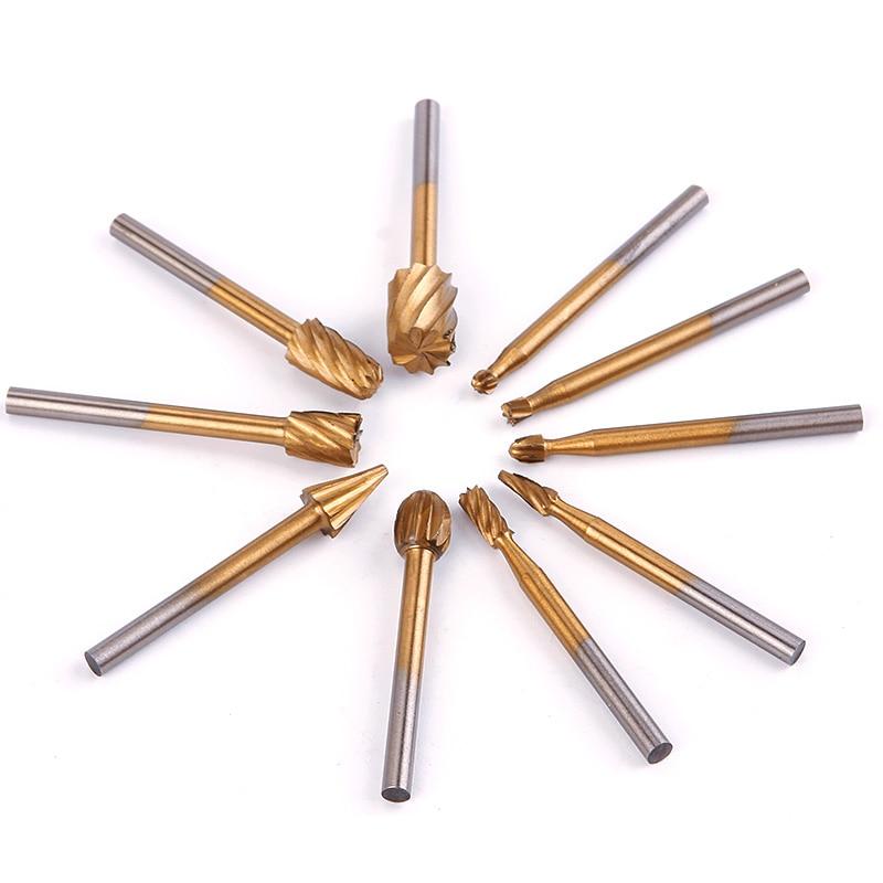 20 Pcs 3mm Hss Gravur Cutter Holz Schleifen Elektrische Rotary Datei Kopf Dateien Werkzeuge