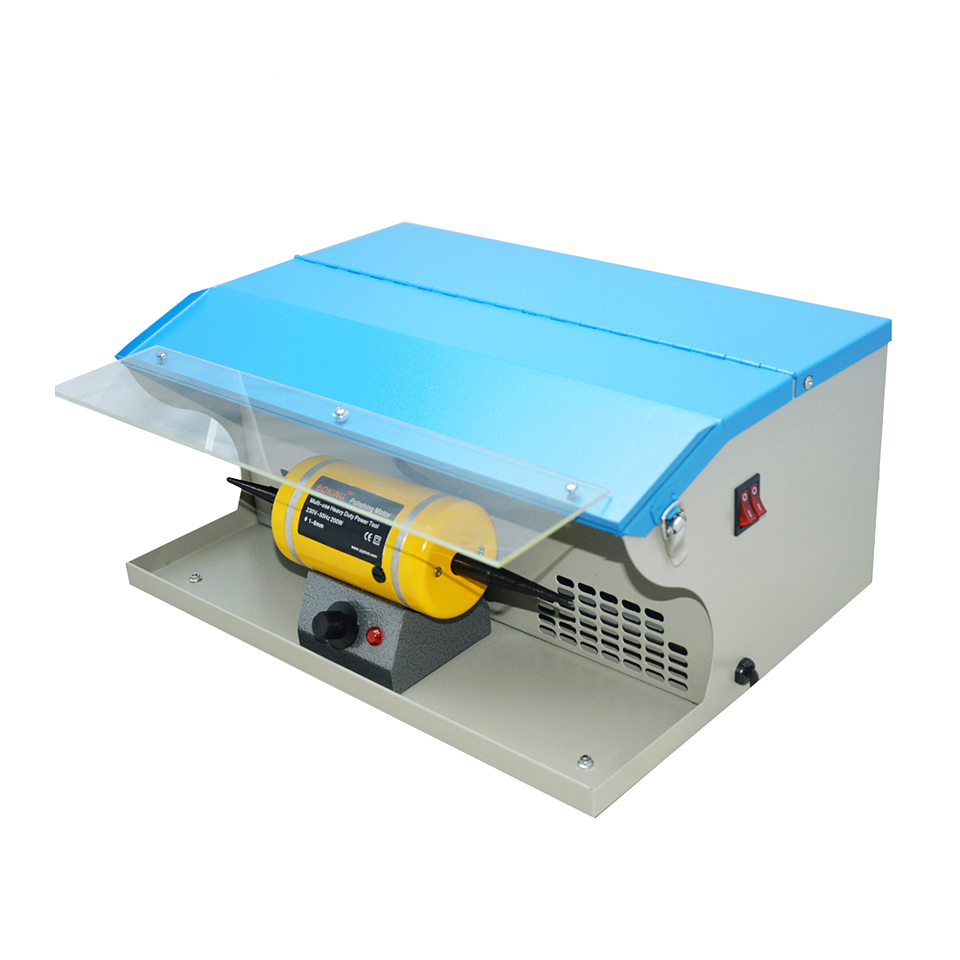 220V Polishing Machine With Dust Collector Mini Polishing Grinding Motor Bench Grinder Polisher 1/6HP Jewelry Polisher Machine