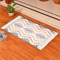 AOVOLL New Absorbent Floor Mats Bathroom Mats Toilet Door Home Carpet Door Mats Door Mats Fashion Tassels Carpet Bedroom Rugs