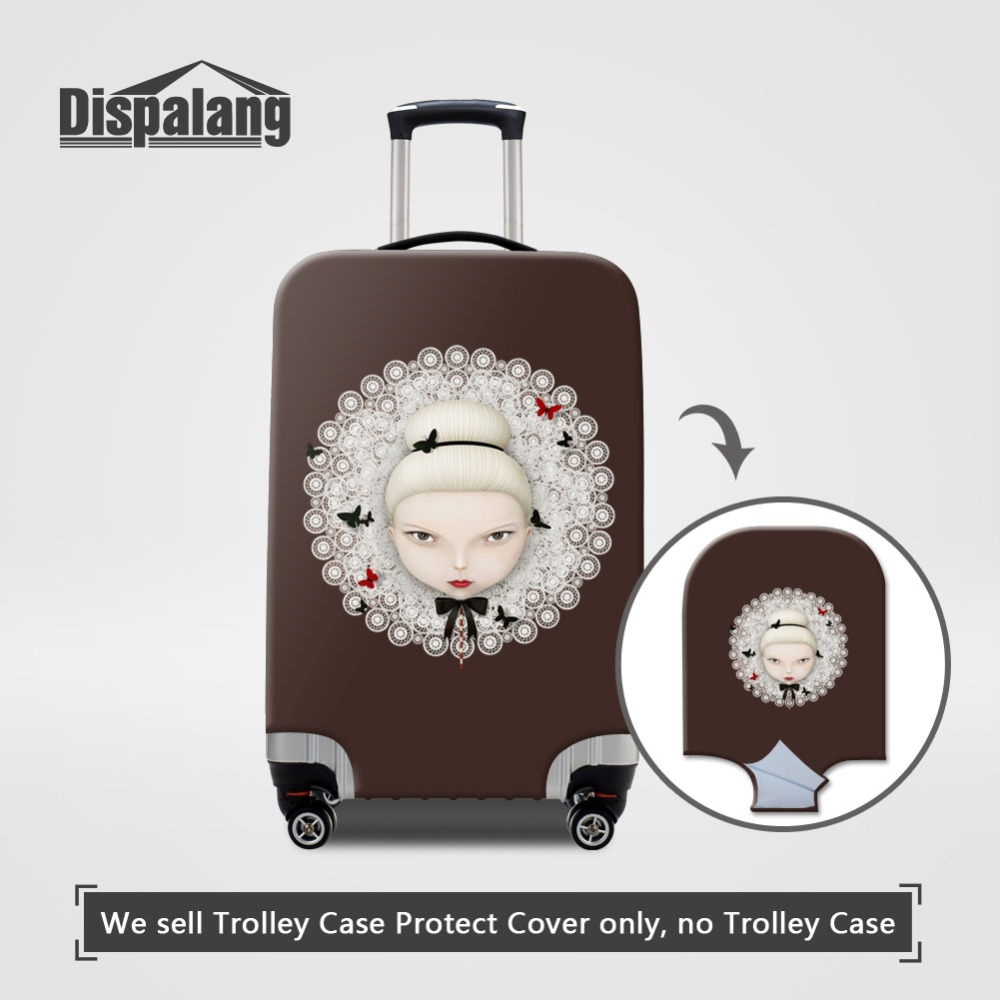 Thicker Luggage Cover For 18-32 Inch Cartoon Ballet Russia Doll Women Elastic Waterproof Suitcase Protective Cover Baggage Cover