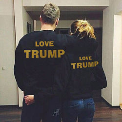 Donald trump make america great again president lovers couple casual loose short sleeve t shirt tops.jpg 250x250