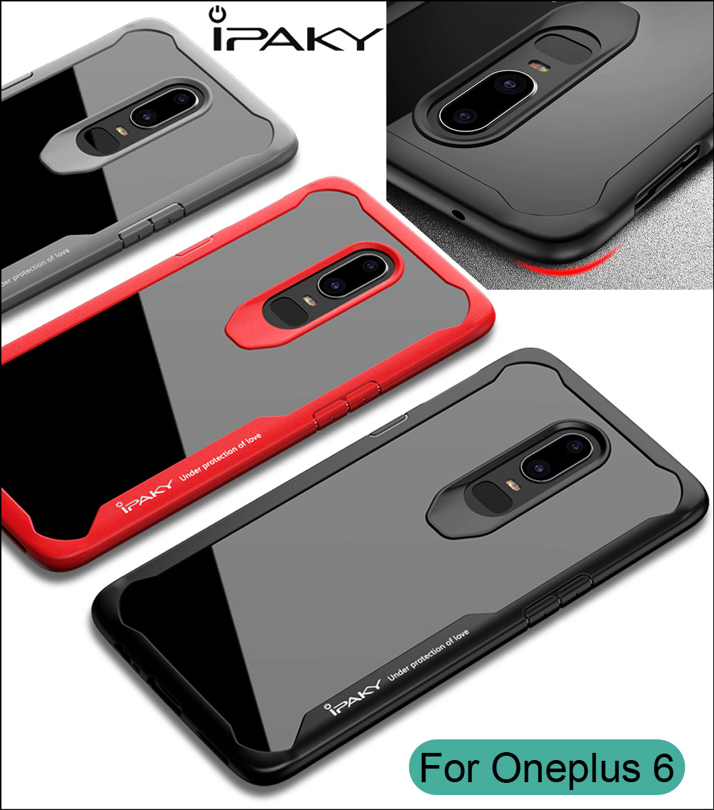 iPaky Case For Oneplus 6 Super Drop resistance Armor anti hit Shock-proof Cover