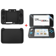 все цены на Nintend New 2DS XL Silicone Rubber Soft sleeve Skin Cover Case Protector For Nintendo New 2DS XL/LL With Screen Protector Film онлайн