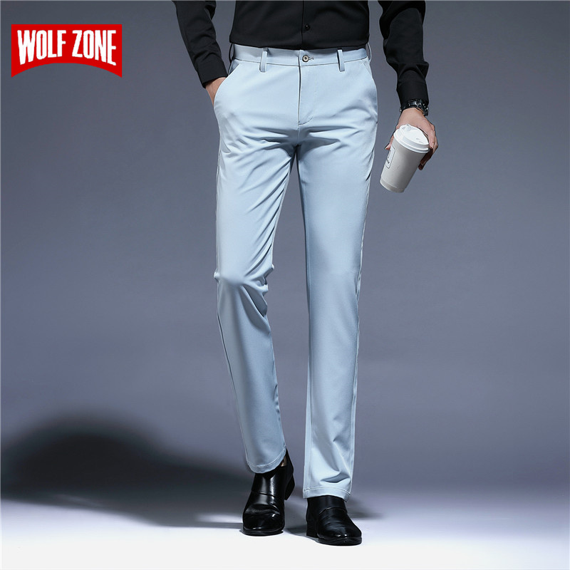 2019 New Multi Color Slim Long Men Pants Straight Business New Regular Fashion Zipper Man Casual Trousers Large Size 29-36
