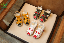 CNFSNJ 2017 New Summer Cartoon Leather Beach Fashion Baby Boys Shoes Casual Soft Kids Shoes Children Shoes Boys Sandals