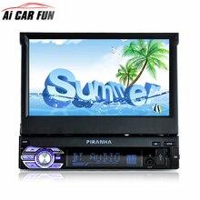 1Din 7 дюймов HD цифровой дисплей выдвижной экран автомобиля mp4 mp5 плеер стерео fm-передатчик автомобиля аудио радио Поддержка камеры заднего вида