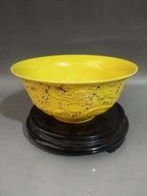 Elaborate Chinese Old-style Vivid  Dragon Porcelain Bowl