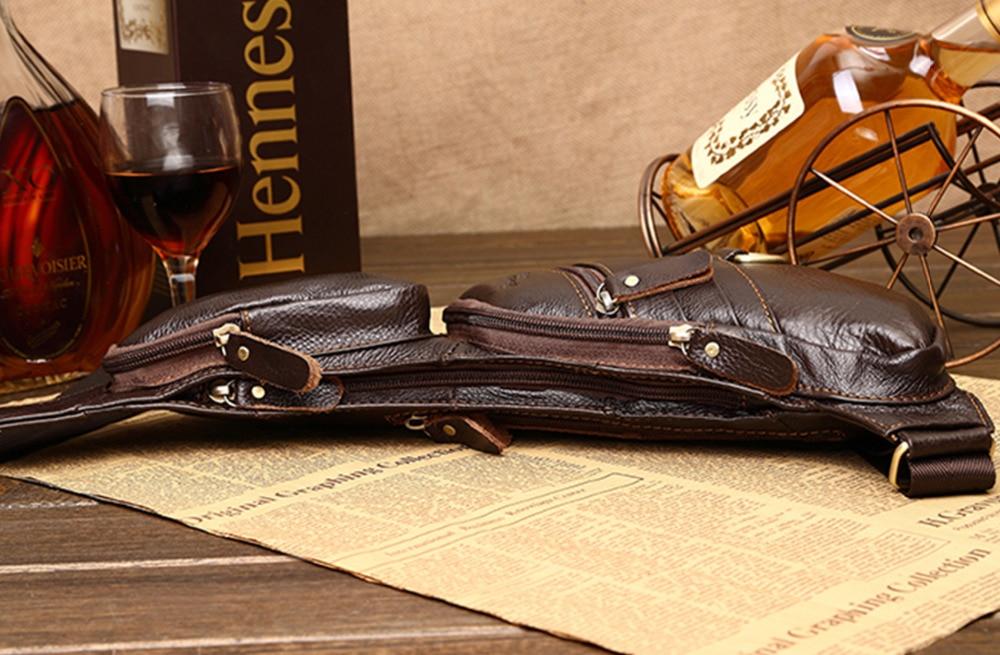 100% ægte læder ægte hud retro mænd skulderbags taske mærke - Håndtasker - Foto 3