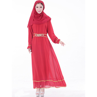 Chiffon Abaya turkish women clothing Muslim Dress Islamic clothes women robe musulmane Jibabs dresses Dubai Kaftan