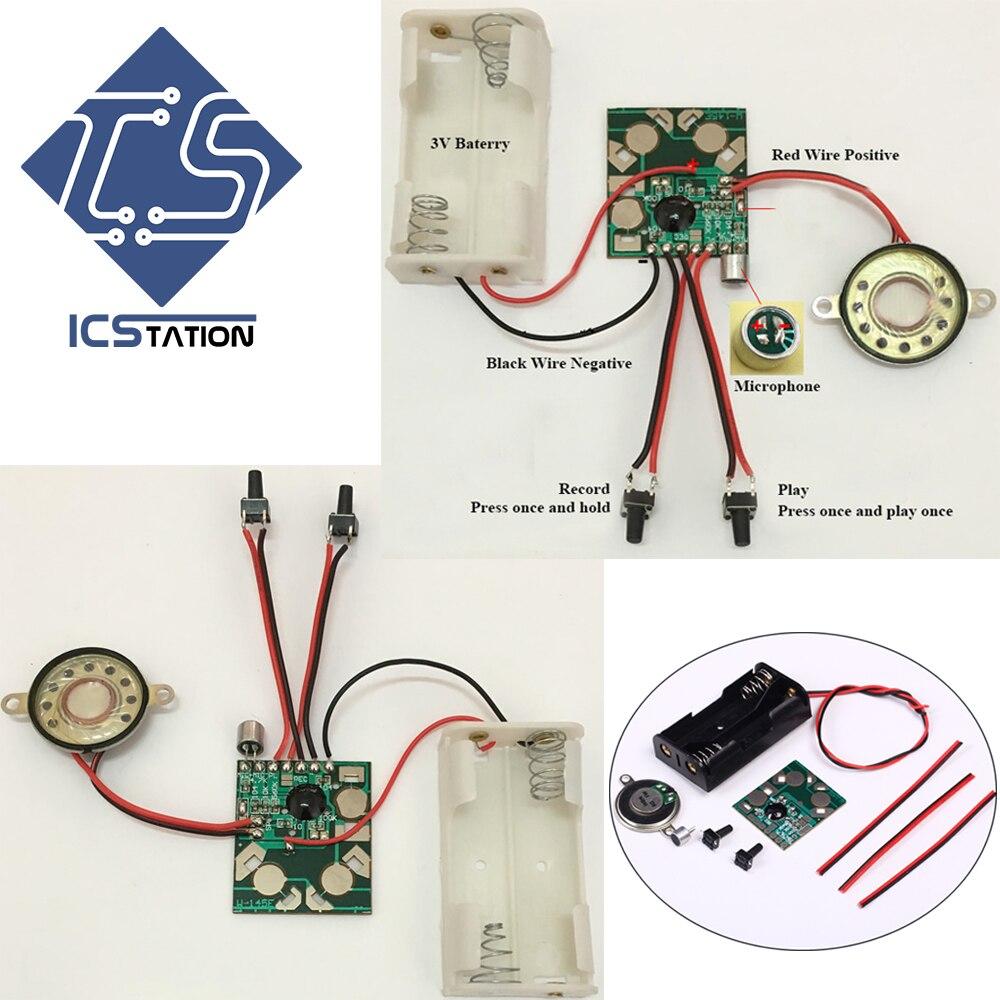 Voice Recording Kits 6S Sound Playback DIY Kits 3-4.5V DIY Recorders Voice Module DIY