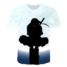 2019 new anime Naruto Kakashizzo and other series of characters mens womens 3D printing T-shirt fashion summer